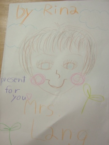 Rina's drawing of me, for me...I think.