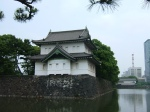 The moat and a guard tower at the Imperial Palace Outer Garden.