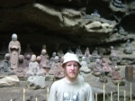 Benno with some Arhat statues.