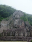 The Daibutsu in all its foggy glory.