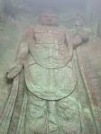The two hundred shaku kannon (kwan-non) - a little hard to see all the detail because of the mist up high.