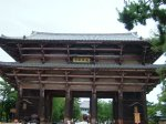 The old wooden gate to Todaiji