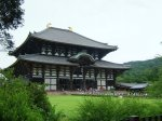 Todaiji- a rather old and large wooden building (although not as large as the original) that houses the daibutsu.