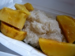 Mango sticky rice - we learnt how to make our Chiang Mai breakfast staple.