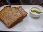 Breakfast at Monk Bodhi Dharma in St Kilda included Banana Bread with Lemon Ricotta (made from tofu cream cheese)